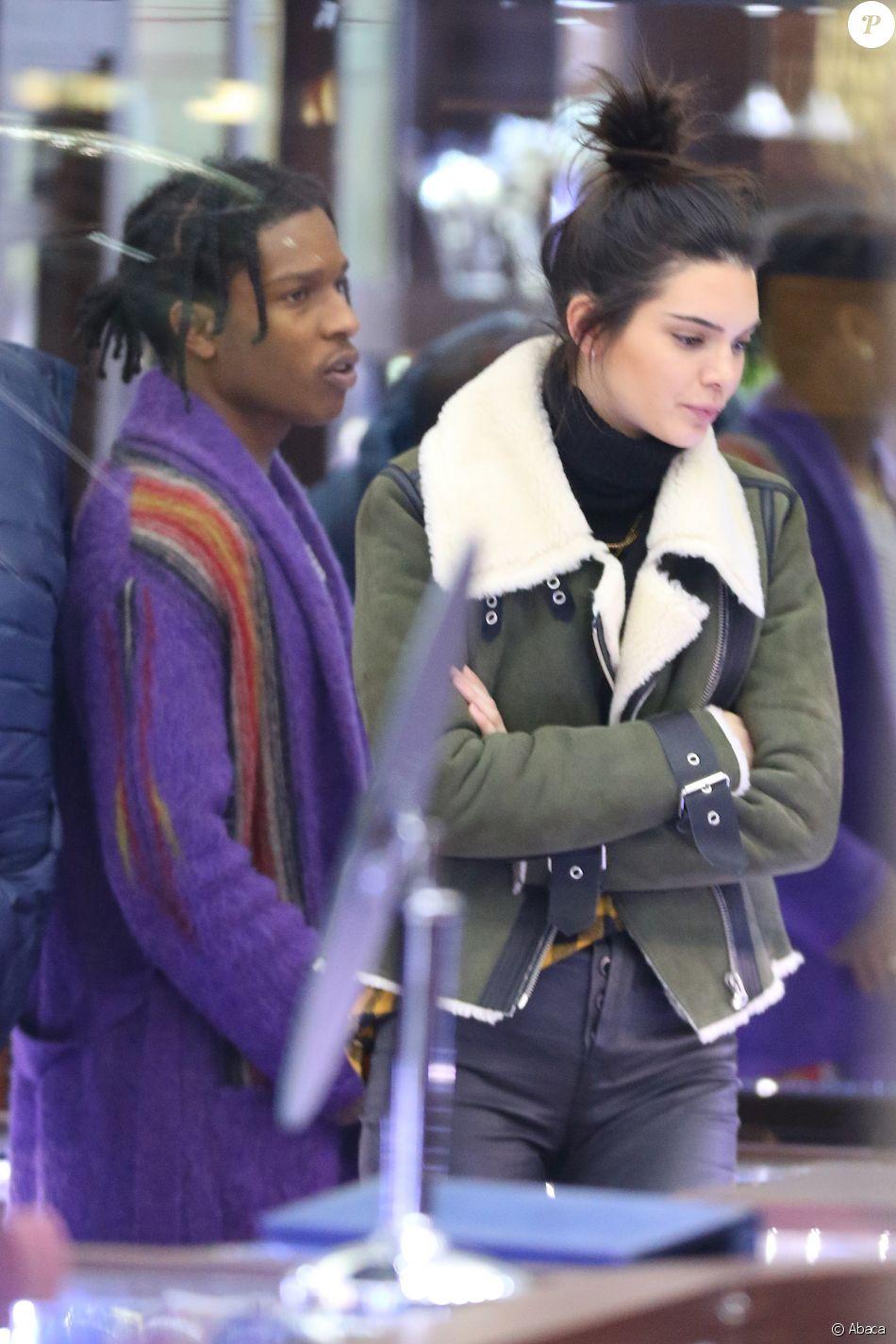 Kendall Jenner et A$AP Rocky à New York le 17 janvier 2017.