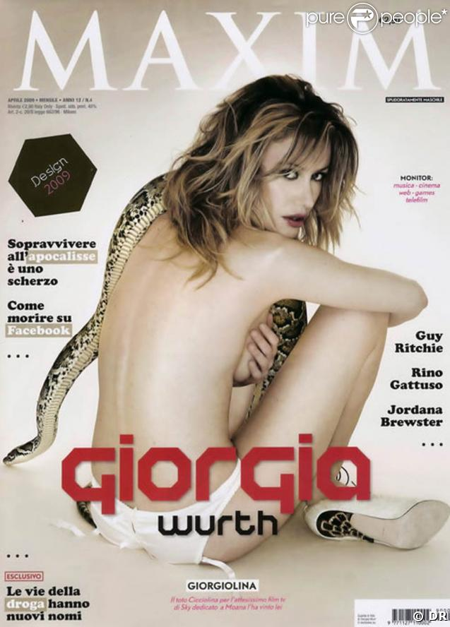 """La très belle Giorgia Wurth en couverture de """"Maxim"""" !"""
