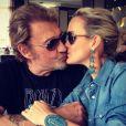 Laeticia et Johnny Hallyday sur Instagram le 1er juillet 2013.