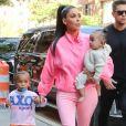 Kim Kardashian avec ses enfants Saint et Chicago à New York, le 29 septembre 2018