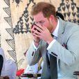 Le prince Harry, duc de Sussex assiste à une cérémonie traditionnelle fidjienne à la dernière étape de leur voyage officiel aux Fidji, à Nadi, Fidji, le 25 octobre 2018.