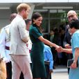 Le prince Harry, duc de Sussex, et Meghan Markle, duchesse de Sussex (enceinte) assistent à une cérémonie traditionnelle fidjienne à la dernière étape de leur voyage officiel aux Fidji, à Nadi, Fidji, le 25 octobre 2018.