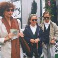 Marlène Jobert et ses filles Eva et Joy Green à Roland-Garros, en 1992.