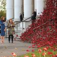 Kate Middleton, duchesse de Cambridge, visite l'Imperial War Museum à Londres pour consulter des lettres de famille datant de la Première guerre mondiale. Le 31 octobre 2018