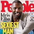 """Idris Elba en couverture du magazine """"People"""" qui vient de le sacrer """"homme le plus sexy"""" de l'année 2018. Novembre 2018."""