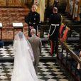 Meghan Markle, duchesse de Sussex, Le prince Charles, prince de Galles, Le prince Harry et Le prince William, duc de Cambridge - Cérémonie de mariage du prince Harry et de Meghan Markle en la chapelle Saint-George au château de Windsor, Royaume Uni, le 19 mai 2018.