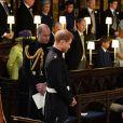 Le prince Charles, prince de Galles et Meghan Markle, duchesse de Sussex - Cérémonie de mariage du prince Harry et de Meghan Markle en la chapelle Saint-George au château de Windsor, Royaume Uni, le 19 mai 2018.