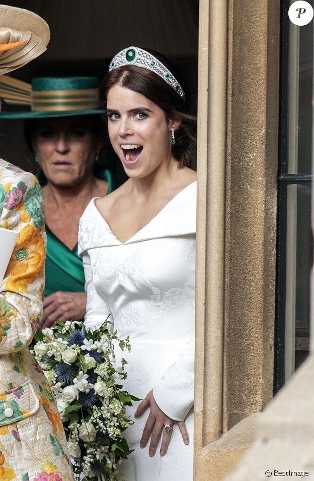 La princesse Eugenie lors de son mariage à Windsor, le 12 octobre 2018.