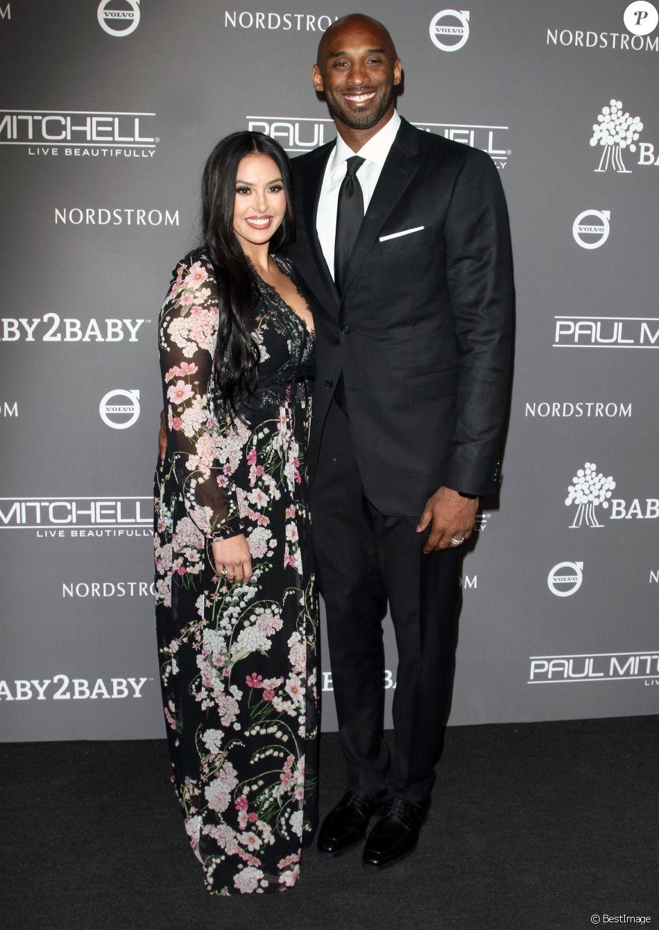 c680a53e01b6d Kobe Bryant et sa femme Vanessa Laine Bryant - Les célébrités posent lors  du photocall de la soirée Baby2Baby à Culver City le 10 novembre 2018.