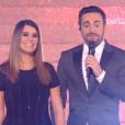 """Karine Ferri et Camille Combal main dans la main dans """"Danse avec les stars 9"""" sur TF1. Le 8 novembre 2018."""