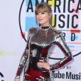 Taylor Swift à la soirée 2018 American Music Awards au théâtre Microsoft à Los Angeles, le 9 octobre 2018