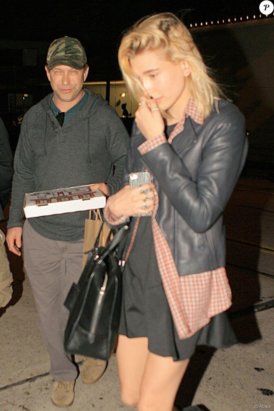 Stephen Baldwin et sa fille Hailey arrivent au restaurant Craig's West Hollywood, le 23 mars 2014