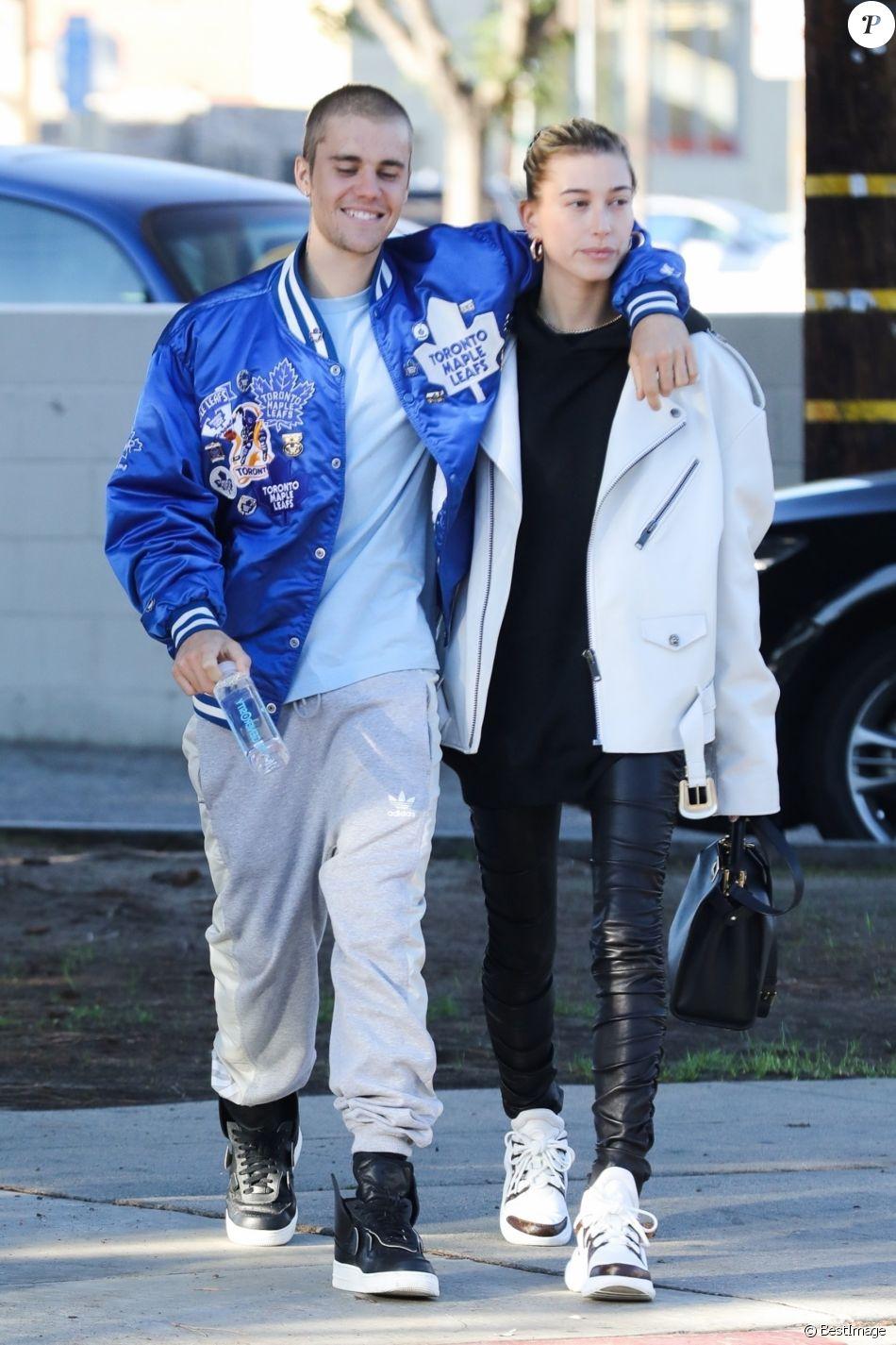 Justin Bieber et sa femme Hailey Baldwin sont allés prendre un café en amoureux à Los Angeles, le 3 novembre 2018.