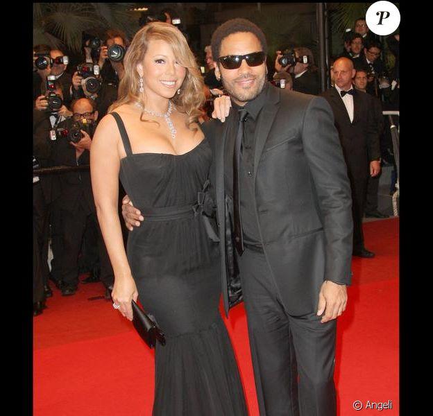 Mariah Carey et Lenny Kravitz, pour la projection de Precious au Festival de Cannes