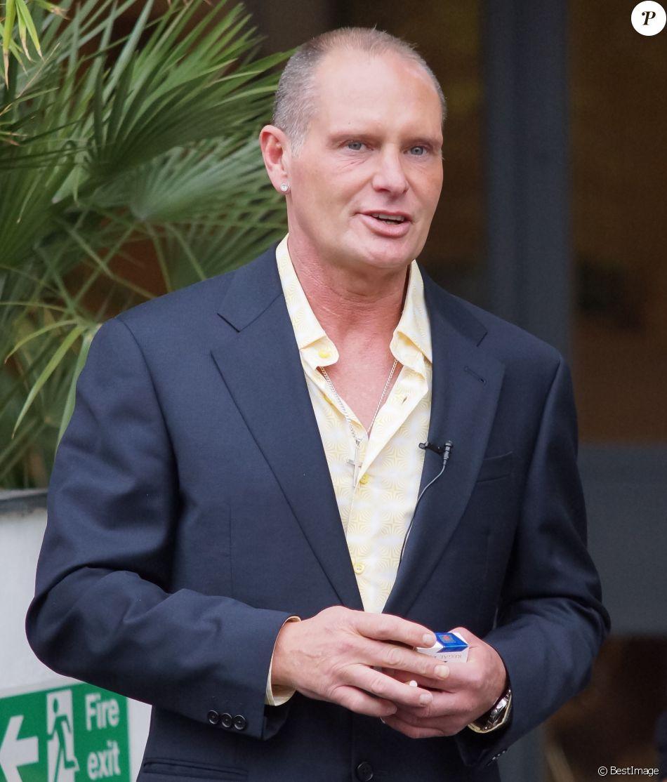 Paul Gascoigne arrive aux studios ITV a Londres, le 10 avril 2013.