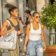 Exclusif - Willow Smith et sa fille Jada Pinkett sont allées faire du shopping dans les rues de Calabasas, le 2 septembre 2018