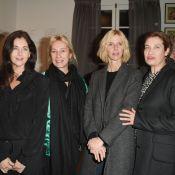 Cristiana Reali et Sandrine Kiberlain : Joyeuse réunion d'anciens élèves