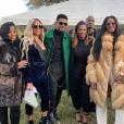Usher (manteau vert) - Enterrement de Kim Porter à Evergreen, dans le Colorado. Le 24 novembre 2018.