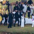 Usher - Sean Combs lors des obsèques de son ex compagne et mère de ses enfants Kim Porter à Columbus le 24 novembre 2018.