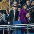 Camila Morrone dans les tribunes du Parc des Princes lors du match de ligue des champions de l'UEFA opposant le Paris Saint-Germain à Liverpool FC à Paris, France, le 28 novembre 2018. Le PSG a gagné 2-1. © Cyril Moreau/Bestimage
