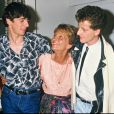 Maria Pacôme avec Patrick Bruel en 1984 à Paris pour la pièce On m'appelle Emilie, qu'elle a écrite.