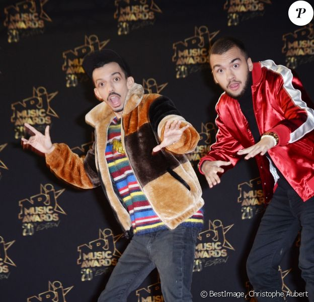 Bigflo et Oli - 20e cérémonie des NRJ Music Awards au Palais des Festivals à Cannes. Le 10 novembre 2018 © Christophe Aubert via Bestimage