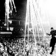 "Drake en concert pour la tournée ""Aubrey and the Three Amigos"". Octobre 2018."