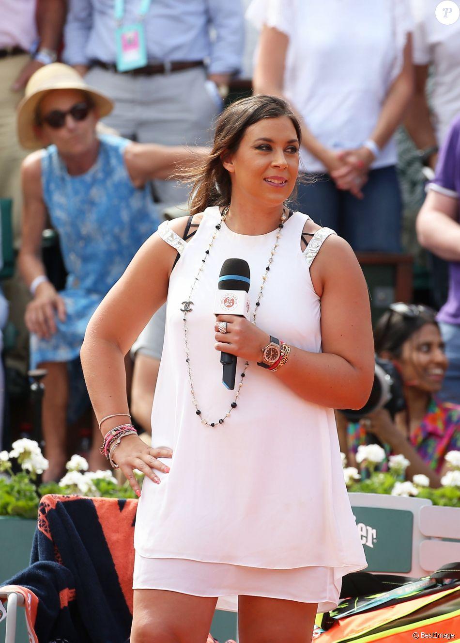 Marion Bartoli lors des Internationaux de France de Tennis de Roland Garros à Paris le 2 juin 2018. © Dominique Jacovides-Cyril Moreau / Bestimage