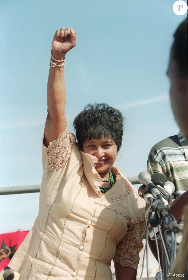 Winnie Mandela en 1995.