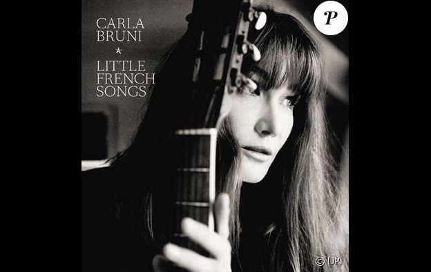 """Pochette de l'album """"Little French Songs"""" de Carla Bruni sorti en 2013. Photo capturée par Kate Barry."""