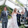 Gwyneth Paltrow (en robe de mariée Valentino) et le producteur Brad Falchuk se sont mariés le 29 septembre 2018, dans les Hamptons, après quatre ans d'idylle.