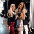 Celine Flores Willers (Allemagne) et Angela Ponce (Espagne) en répétition pour la finale de Miss Univers 2018 à l'Impact Arena à Bangkok. Le 16 décembre 2018.