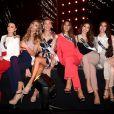 Zana Berisha (Kosovo), Angela Ponce (Espagne), Grainne Gallanagh (Irlande), Francesca Hung (Australie), Virginia Limongi (Equateur) et Jastina Doreen Riederer (Suisse) en répétition pour la finale de Miss Univers 2018 à l'Impact Arena à Bangkok. Le 15 décembre 2018.