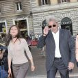 Alain Delon à son arrivée à la soirée Bulgari hier soir à Rome
