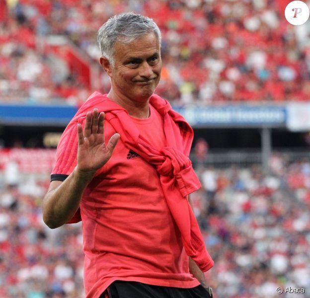 José Mourinho lors du match amical de Manchester United contre le Bayern Munich le 5 août 2018.