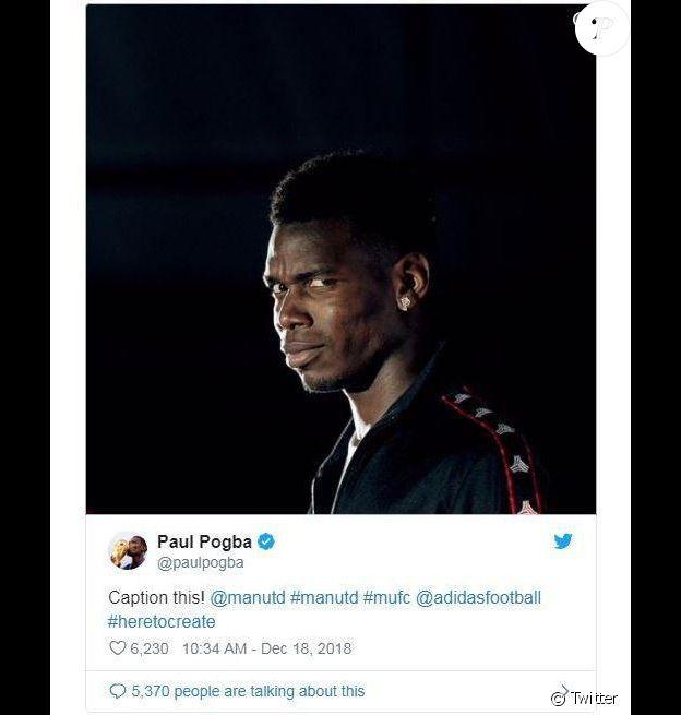 Paul Pogba a publié cette photo sur Twitter après l'annonce du départ de José Mourinho le 18 décembre 2018, avant de la retirer très rapidement.