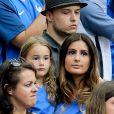 Marine Lloris (La Femme de Hugo Loris) et sa fille Anna-Rose lors du match de la finale de l'Euro 2016 Portugal-France au Stade de France à Saint-Denis, France, le 10 juillet 2016. © Cyril Moreau/Bestimage
