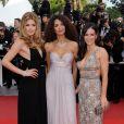 Doutzen Kroes, Afef Jnifen et Evangeline Lilly lors du 62e Festival de Cannes le 17 mai 2009