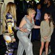Jennifer Lopez avec sa mère Guadalupe et sa fille Emme à New York, le 20 août 2018