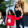 Alex Rodriguez, Jennifer Lopez et sa fille Emme à Miami, le 24 mai 2018