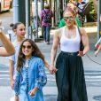 Jennifer Lopez fait du shopping avec sa filleEmme àNew York, le 30 juin 2018.