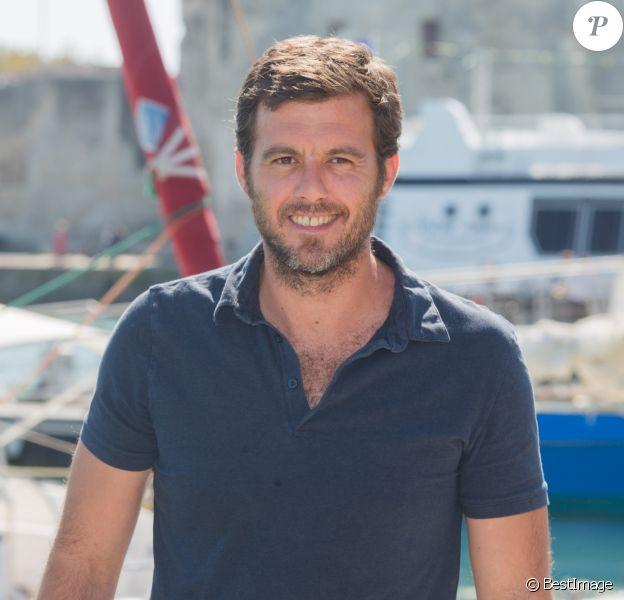 """Lannick Gautry au photocall de """"Le Mystère du lac"""" dans le cadre du 17ème festival de fiction TV de La Rochelle sur le Vieux Port, le 10 septembre 2015."""