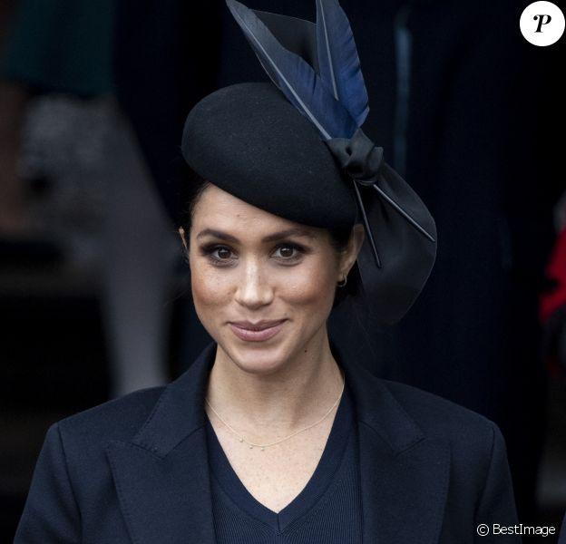 Meghan Markle, la duchesse de Sussex enceinte - La famille royale britannique se rend à la messe de Noël à l'église Sainte-Marie-Madeleine à Sandringham, le 25 décembre 2018.