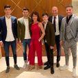 Zinédine Zidane en famille pour fêter Noël à Dubaï. Instagram, le 24 décembre 2018.