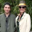 Cristina Cordula et son fils Enzo - Internationaux de France de tennis de Roland Garros le 3 juin 2015.