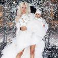 Khloé Kardashian et sa fille True à la fête de Noël familiale le 24 décembre 2018.