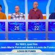 """Peggy tres gênée après sa bourde dans """"Tout le monde veut prendre sa place"""" sur France 2 le 29 décembre 2018."""