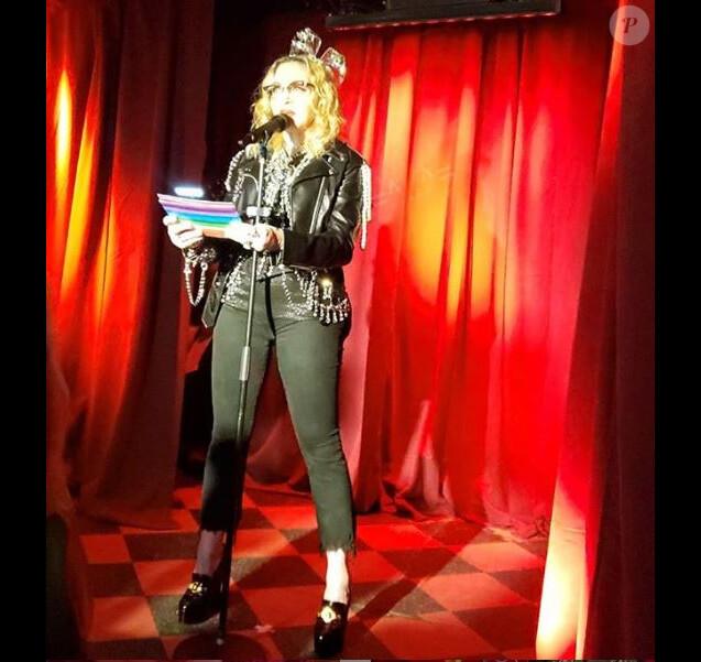 Madonna au Stonewall Inn de New York. Décembre 2018