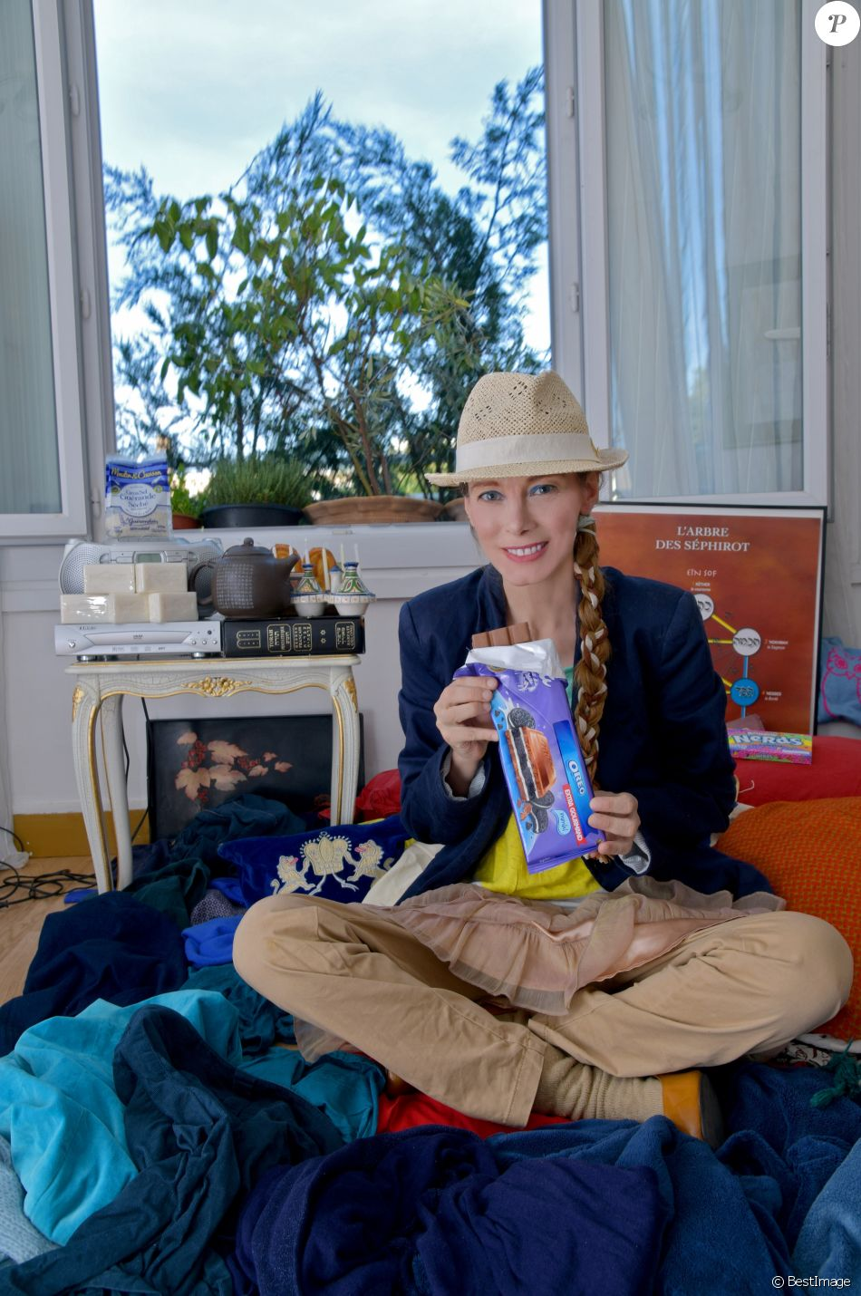 Mallaury Nataf chez elle à Issy-les-Moulineaux le 11 août 2018 @Giancarlo Gorassini/Bestimage