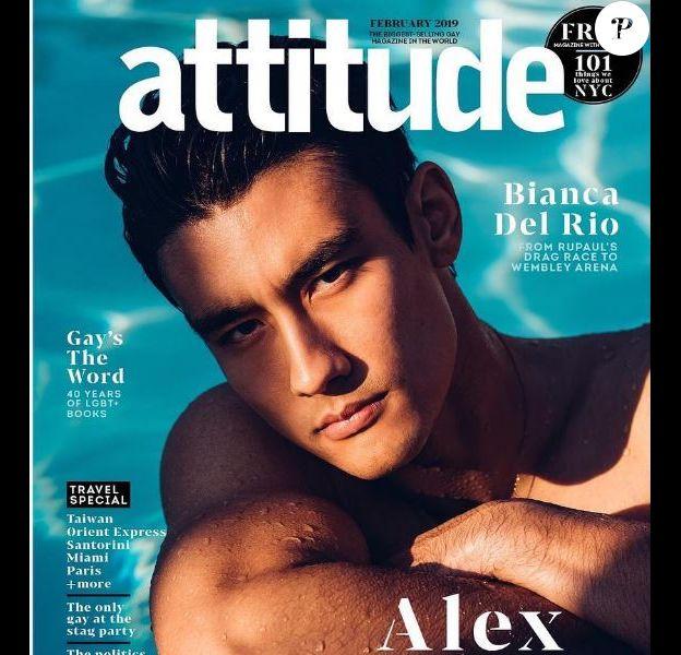 Attitude, avec Alex Landi en couverture. Février 2019